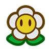Pegatina de Símbolo de flor SSBB