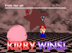 Pose de victoria de Kirby (2-1) SSB