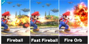 Todos los tipos de Bola de fuego de Mario SSB4 (Wii U)