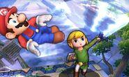 Ataque Smash hacia arriba de Toon Link SSB4 (3DS)