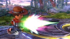 Ataque fuerte lateral Tirador Mii SSB4 Wii U