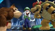 Donkey Kong, Luigi y Bowser en el Castillo de Willy SSB4 (Wii U)