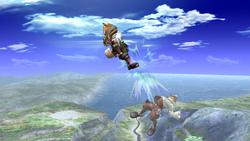 Fox Ataque Aereo Inferior, primer golpe-SSBB