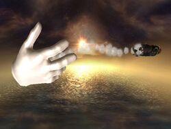 Master Hand Lanzamiento hacia atrás SSBB