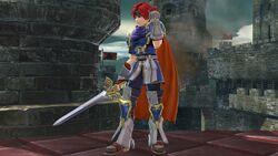 Pose de espera 1 Roy SSB4 (Wii U)