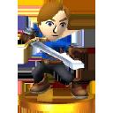 Trofeo de Espadachín Mii SSB4 (3DS)