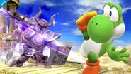 Yoshi esquivando el Espectro de Zelda SSB4 (Wii U)
