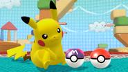 Créditos Modo Senda del guerrero Pikachu SSB4 (Wii U)