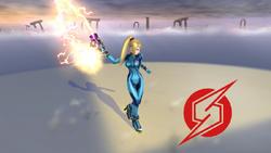 Pose de victoria de Samus Zero (2-1) SSB4 (Wii U)