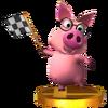Trofeo de Cerdito consejero SSB4 (3DS)
