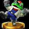 Trofeo de Slippy Toad SSB4 (Wii U)
