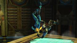 Lanzar hacia arriba-Snake SSBB