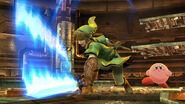 Link y Kirby en la Central Geotermica SSB4 (Wii U)
