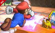 Pikachu usando Rayo contra Mario SSB4 (3DS)