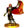Trofeo de Ganondorf (Ocarina of Time) SSB4 (3DS)