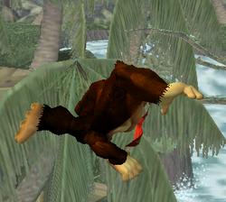 Ataque aéreo hacia atrás de Donkey Kong SSBM