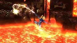 Ataque aéreo normal de Samus Zero (2) SSB4 (Wii U)
