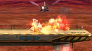 Meta Knight bajo los efectos del Curry Superpicante en SSB4 (Wii U)