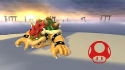 Pose de victoria de Bowser (3-1) SSB4 (Wii U)