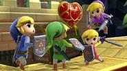 Toon Link junto a sus otras Paletas de colores SSBU