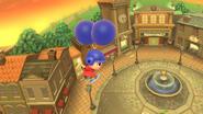 Aldeano con el casco azul (Wii U)