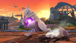 Ataque Smash hacia arriba Mewtwo (1) SSB4 (Wii U)