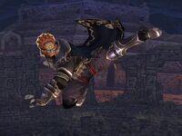 Ataque aéreo normal Ganondorf SSBB
