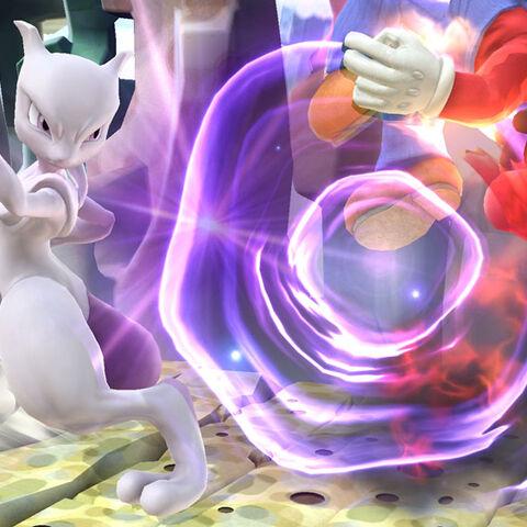 Mewtwo usando Confusión contra Mario en <i><a href=