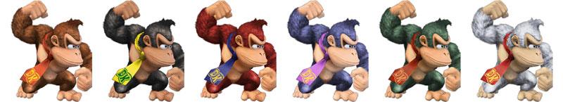 Paleta de colores Donkey Kong SSBB