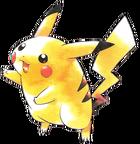 Pikachu Pokémon Rojo Azul y Amarillo