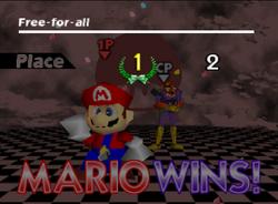 Pose de victoria de Mario (2-2) SSB