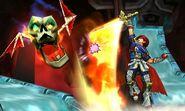 Salto Llamarada Roy SSB4 (3DS)