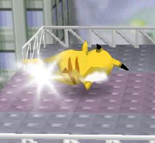 Ataque Smash hacia abajo de Pikachu (2) SSB