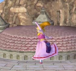 Ataque aéreo hacia abajo de Zelda SSBM