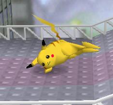 Ataque fuerte lateral de Pikachu SSB