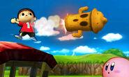 El Aldeano lanzando su ataque especial, el Lloid Rocket - (SSB. for 3DS)