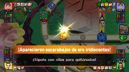 Escarabajos de oro iridiscentes en el tablero de Mundo Smash SSB4 (Wii U)