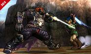 Ganondorf y Link en el Valle Gerudo omega SSB4 (3DS)