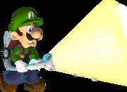 Luigi usando la Succionaentes 3000 en Luigi's Mansion