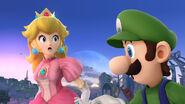 Peach y Luigi en el Campo de Batalla SSB4 (Wii U)