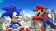 Sonic y Mario en el Campo de batalla SSB4 (Wii U)