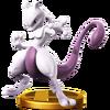 Trofeo de Mewtwo (peleador) SSB4 (Wii U)