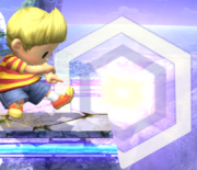 Ataque Smash inferior Lucas SSBB (3)