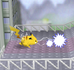 Ataque Smash lateral de Pikachu SSB