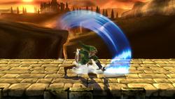 Ataque fuerte lateral de Link SSB4 (Wii U)