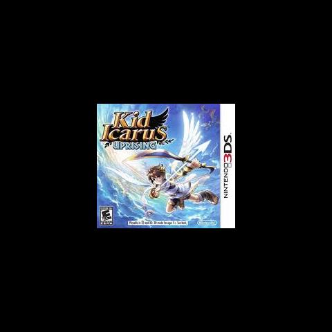 Pit y la Flecha de Luz en la carátula de <i>Kid Icarus: Uprising</i>.