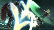 Cloud usando Corte cruzado contra Ganondorf en Midgar SSB4 (Wii U)