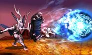 Corrin usando Tiro Colmillo Dragon SSB4 (3DS)