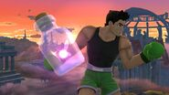 Little Mac con un Hada embotellada SSB4 (Wii U)