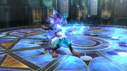 Lucario transformado en Mega-Lucario SSB4 (Wii U)